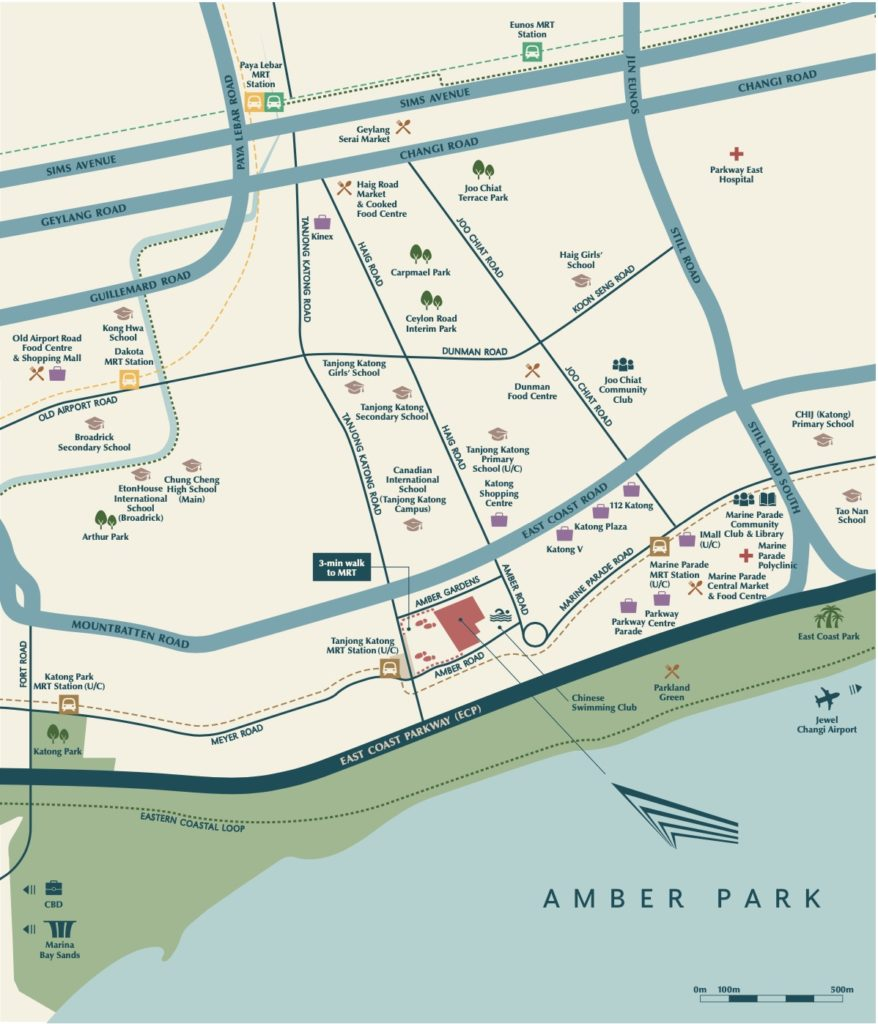 Amber Park Location Map Singapore